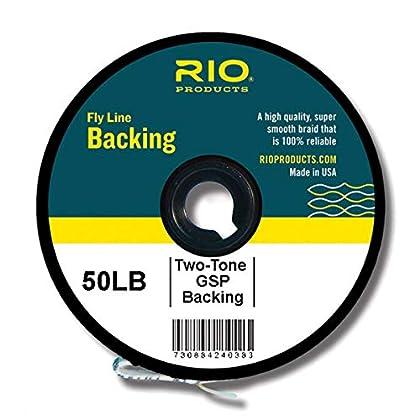 Image of Rio Fly Fishing Backing 2-Tone Gel Spun, 50Lb 1000 yd. Fly Tying Equipment, Clear