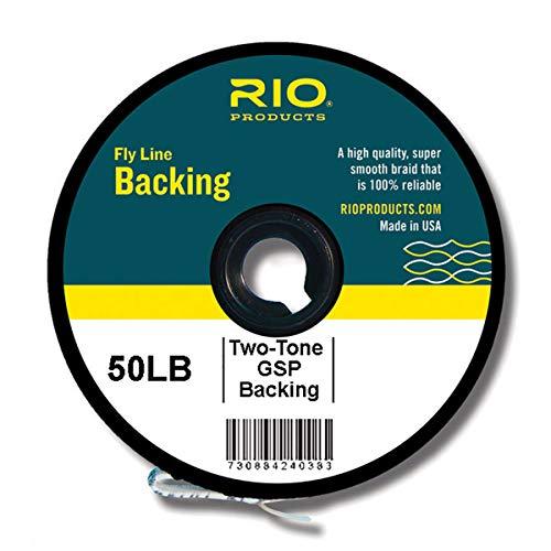 Rio Fly Fishing Backing 2-Tone Gel Spun, 50Lb 100 yd. Fly Tying Equipment, Clear