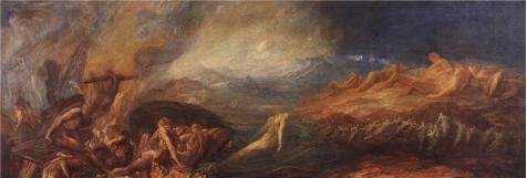 Oil Painting 'Assistants And George Frederic Watts - Chaos,1