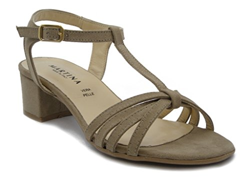 Martina Fly IN ecocamoscio Heel 4 cm, Non-slip rubber soles 68556-Summer