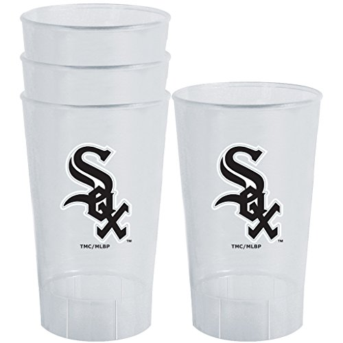 MLB Chicago White Sox Plastic Tumbler (Pack of 4), 16 oz., (Sox Plastic Tumblers)