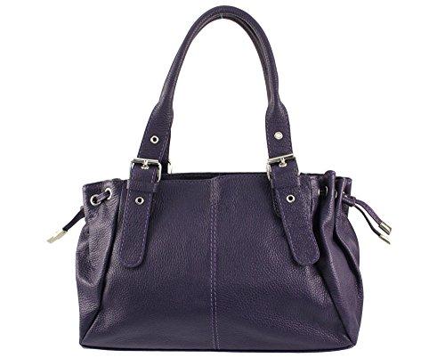 Main sac Violet Plusieurs Sac Femme Cuir sac sac Main sac Maria Chloly Italie À Foncé sac Coloris Cuir Cuir A Maria EwZqYgxn