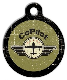 Co-Pilot – Custom Pet ID Tag for Cats and Dogs – Dog Tag Art – LARGE SIZE, My Pet Supplies