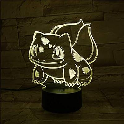 Pokemon Go Bulbasaur Figura 3d Luces nocturnas Luminaria de sala ...