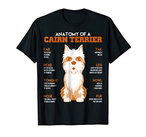 Anatomy Of A Cairn Terrier Dogs T Shirt Funny Gift