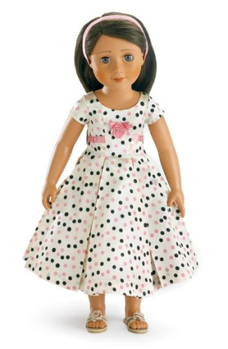 Pink Polka Dress for 18 inch Slim Carpatina or AGFAT dolls