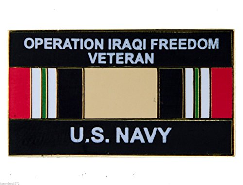 Operation Iraqi Freedom Veteran US Navy Ribbon Hat or Lapel Pin H14549D9 - Iraqi Freedom Veteran Hat Pins
