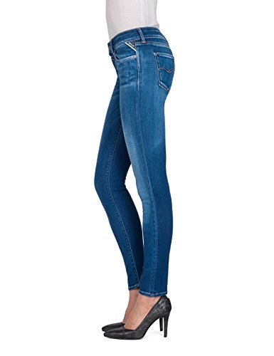 Azul Mujer mid Para Denim Vaqueros Luz Skinny Replay 10 Blue wSqOB6ORx