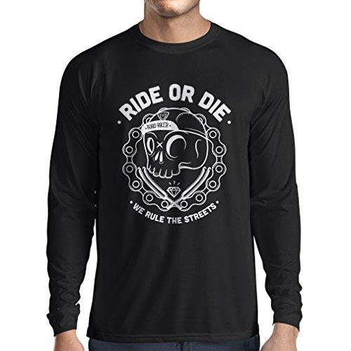 Spoke Floor Stand (lepni.me Long Sleeve t Shirt Men Ride or Die (Small Black Multi Color))