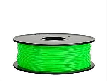 Filamento 3d Flexible (elastómero termoplástico) verde 1.75 ...
