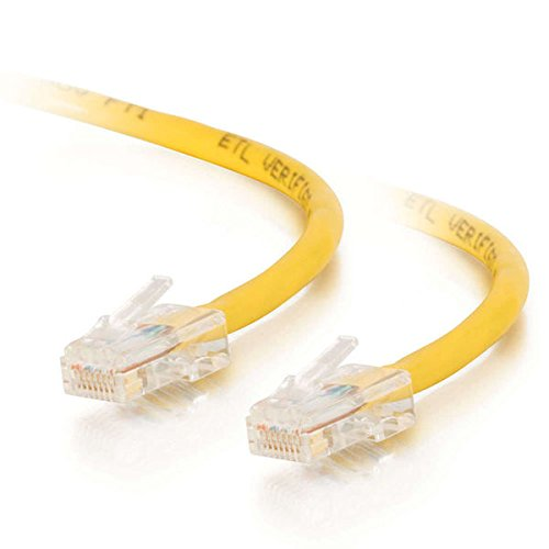 25ft Cat5e Non-Booted Unshielded (UTP) Network Crossover Patch Cable - Yellow
