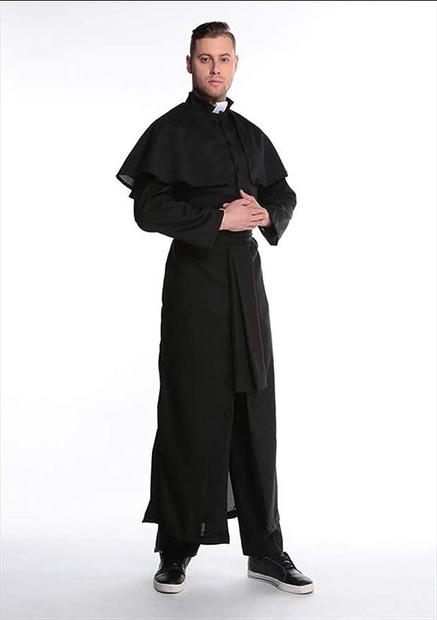 XSQR Negro Capa Halloween Cosplay Disfraz De Virgen María ...