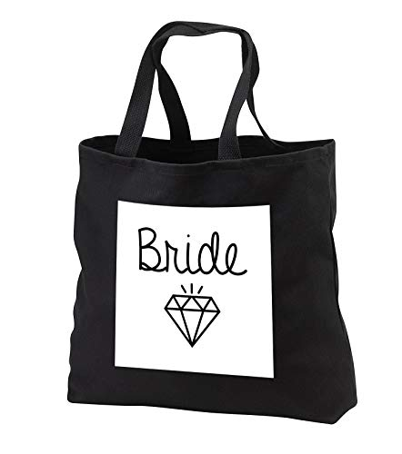 Tory Anne Collections Quotes - Bachelorette Party Bride T Shirt Tank Top Diamond Squad - Tote Bags - Black Tote Bag JUMBO 20w x 15h x 5d (tb_292528_3) ()