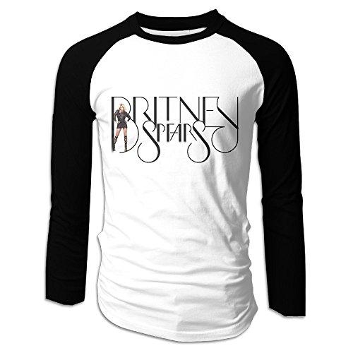 2016 Britney Spears Costume (Creamfly Mens Britney Spears Long Sleeve Raglan Baseball Tshirt L)