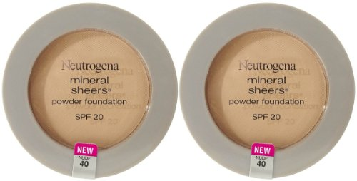 Neutrogena Cosmetics Mineral Sheers Compact Powder Foundation - Nude 40 - 2 pk