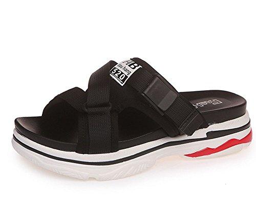 2 manera salvajes simples de de la zapatillas las y KUKI Sandalias gruesas mujeres 4wX7a8q