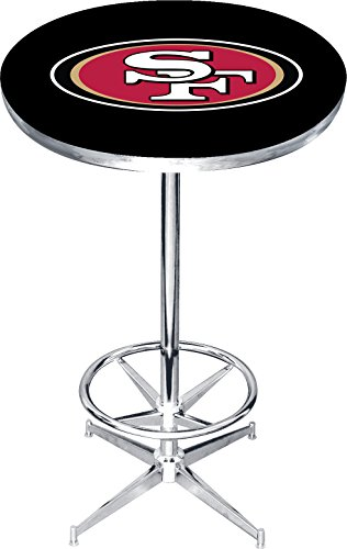 Imperial Officially Licensed NFL Furniture: Round Pub-Style Table, San Francisco - 49ers Pub Table Francisco San