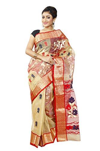 B3Fashion-Indian-Handloom-Traditional-Ethnic-Bengal-Pure-Tussar-Silk-Saree