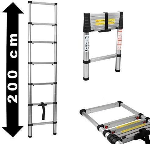 HKJHDSKA Escalera Telescópica de Aluminio Domino 2M de Escalera Multifuncional Plegable,200 Cm Multiusos Escalera: Amazon.es: Hogar