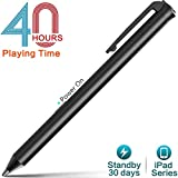 iPad Stylus Pen,Active Capacitive Digital Pens Supporting 40-Hour Playing Time 30-Day Stand 120-second Auto Power Off 3 Replaceable Fine Point Rubber Tips Touchscreen Styli iPad
