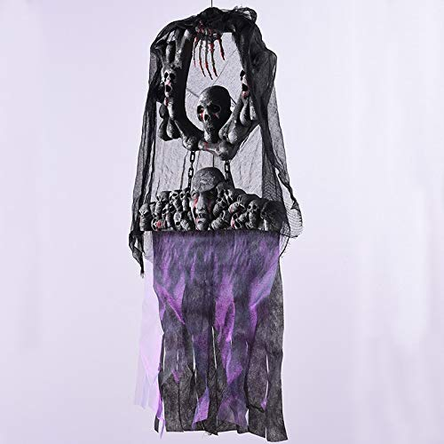 Halloween Hanging Ghost Festival Haunted House Horror Props Decoration Scary for Costume Party Skeleton Horrifying -
