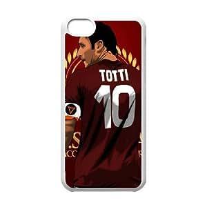 iPhone 5c funda Blanco [KHOAOKOFJ7564] CUSTOM Francesco Totti 10 TEMA iPhone 5c funda