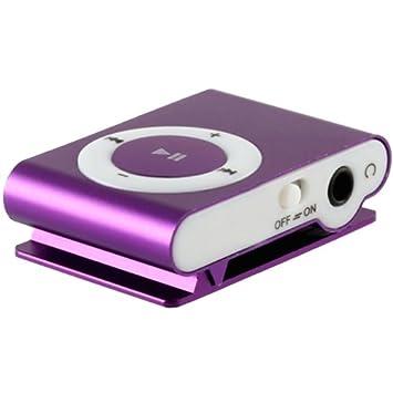 Mini reproductor MP3 con clip, Color MORADO: Amazon.es: Electrónica