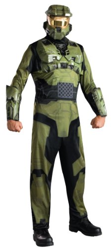 (Halo Master Chief Costume, Green,)