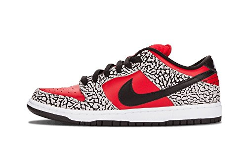 Nike Mens Dunk Low Premium SB Fire Red/Black Cement Grey Leather Size 10 Skateboarding 1xjDNoy4Ip