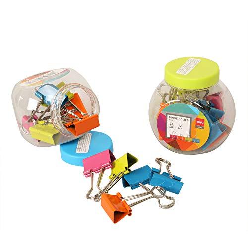 deli 25mm Binder Clip Set - Pack of 3 (Multicolor)