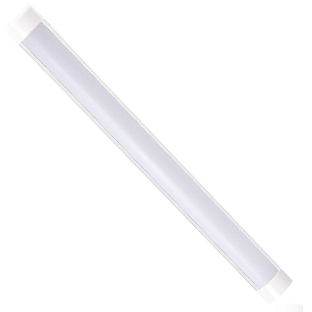 LED Batten Light 4FT, T10 LED Tube Light Low Profile Wall or Ceiling Surface Mounted for Office, Garage and Workshop 40W 3000LM 4000K(Pure White),1Pack [Energy Class A+] sansen lighting