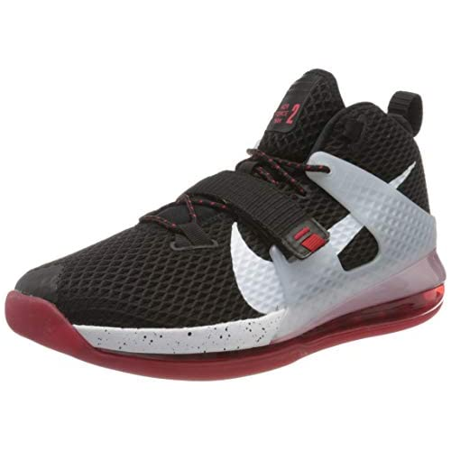 chollos oferta descuentos barato Nike Air Force MAX II Zapatillas de básquetbol para Hombre Black White Univ Red Wolf Grey 40 5 EU