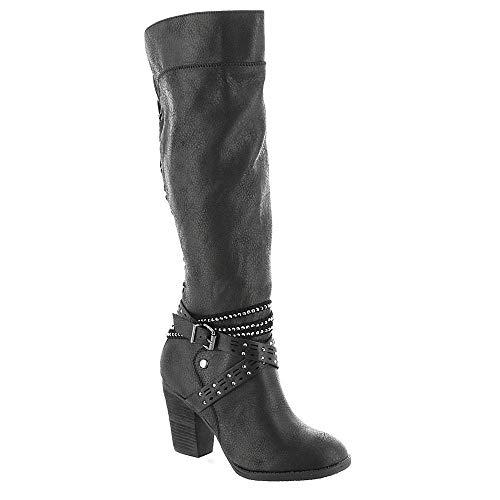 Not Rated Womens Raine Almond Toe Knee High Fashion Boots, Black, Size 6.0