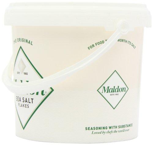 Maldon Sea Salt Flakes 1.5kg/3.3lbs Tub by Salt Traders (Image #4)