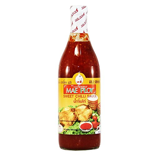 Mae Ploy Brand Chili Sweet Sauce, 25oz Glass Bottle Thai Sweet Hot Sauce