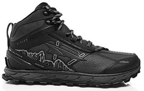(Altra Men's Lone Peak 4 Mid RSM Waterproof Trail Running Shoe, Black - 12 D(M) US)