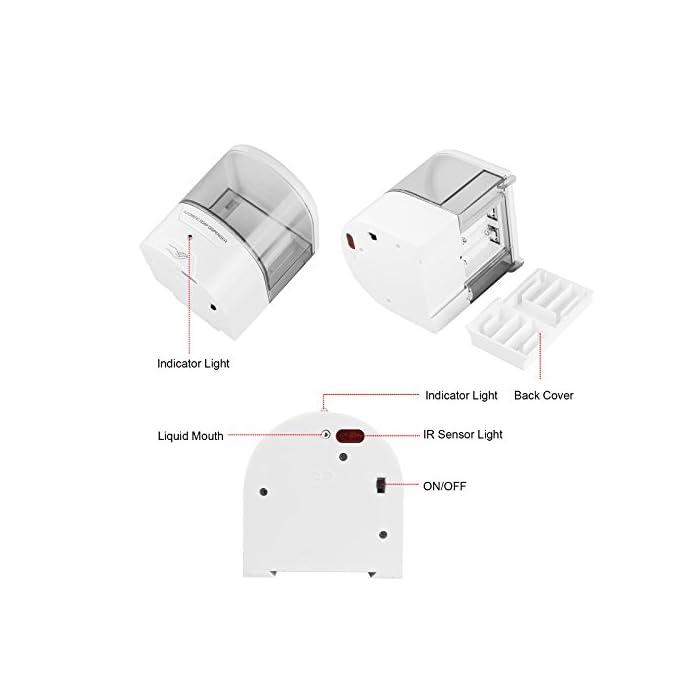 41Bs4LWyIwL ✔【SENSACIÓN AUTOMÁTICA】: Dispensador Automatico Sensor inteligente de infrarrojos incorporado, operación totalmente automática y sin contacto, no más contacto para evitar la segunda infección cruzada. ✔【SIN RESIDUOS】: Dispensador Jabon Automático Seleccione el líquido 1 ml, elimine los desechos y el desorden de la encimera. ✔【CAPACIDAD MÁXIMA】: 600ml Dispensadores De Gel Desinfectante . Ideal para lociones jabones líquidos o desinfectantes, etc.