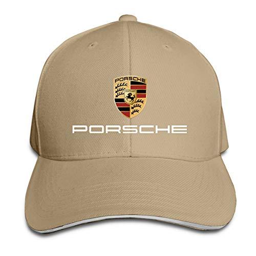 Outdoor Ball Cap - SHLONG Porsche Logo Outdoor Ball Cotton Caps Hats Adjustable Natural