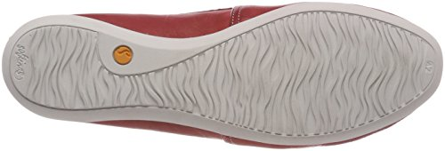 Red Washed Chiusa Rosso Donna Ballerine Softinos Punta 002 Olu382sof a4Zxw5Bq0