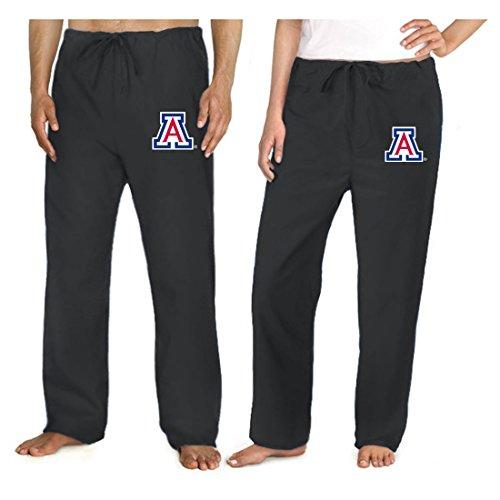 University of Arizona Scrub Pants Scrubs Drawstring Bottoms for Men or Ladies! X Black ()
