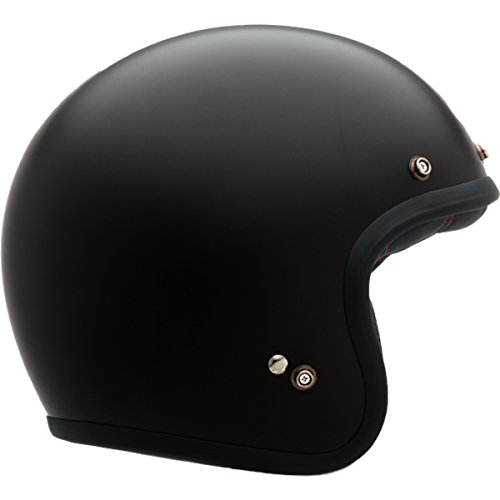 Bell Custom 500 Unisex-Adult Open face Street Helmet (Solid Matte Black, Medium) - Face Bell Helmets Open