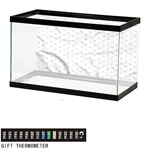 bybyhome Fish Tank Backdrop Grey,Small Polka Dots Pastel,Aquarium Background,30