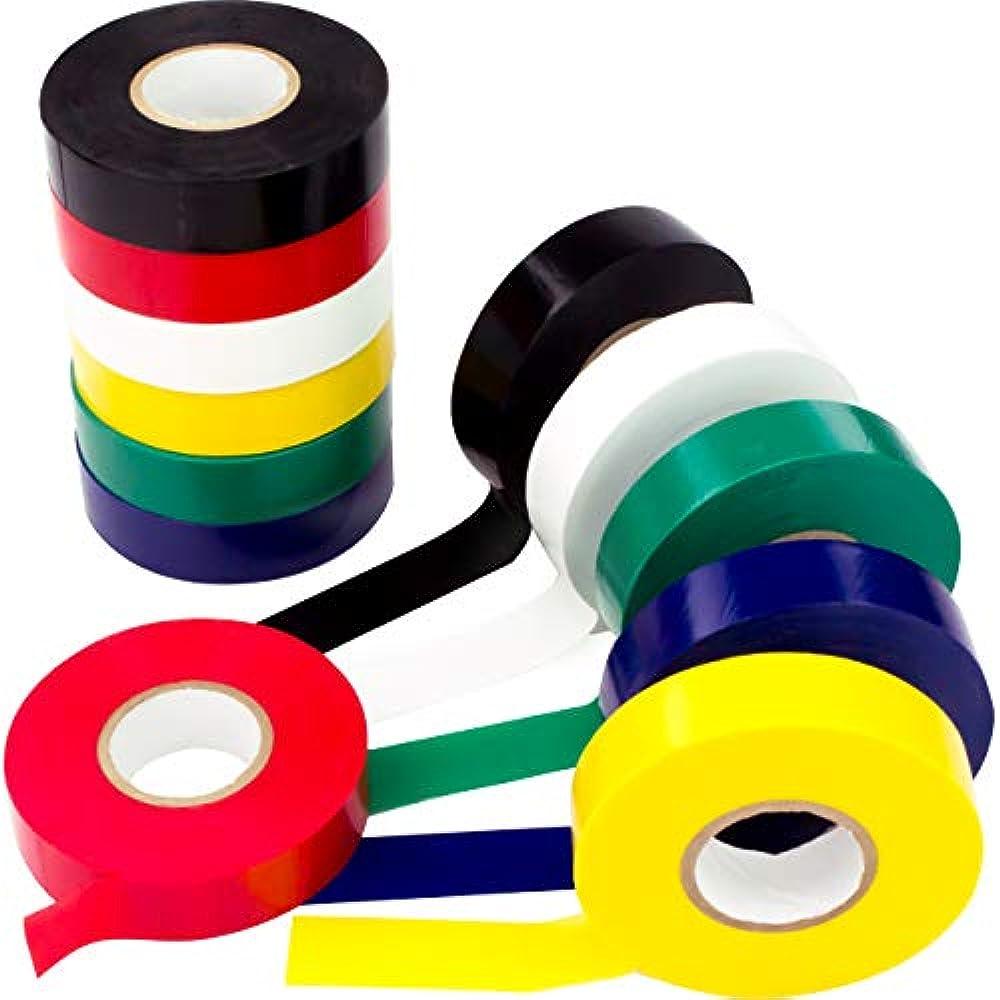 Nova Supply/'s Pro Grade Black Electrical Tape Jumbo Roll 10 Pack Huge 60 Foot
