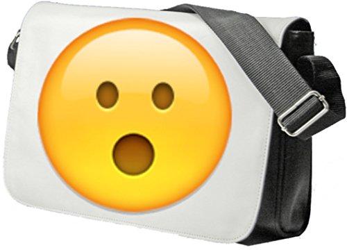 """Schultertasche """"Gesicht mit offenem Mund"""" Schultasche, Sidebag, Handtasche, Sporttasche, Fitness, Rucksack, Emoji, Smiley"""