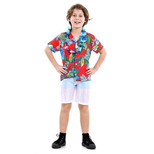 Fantasia Havaiano Basic Infantil Sulamericana Fantasias G 10/12 Anos