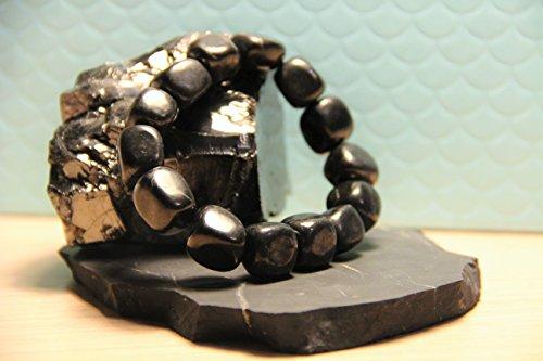 Karelian Heritage Genuine Regular Shungite Tumbled Bracelet