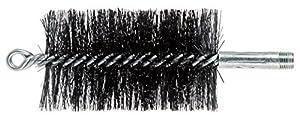"""PFERD 89658 3"""" Double Spiral Flue Brush, 0.012 Carbon Steel, 4-1/2"""" Brush Part Length, 2-3/4"""" OD"""