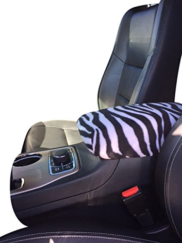 DODGE Durango/Citadel 2011- 2017 SUV Auto Center Console Armrest Cover Protects from Dirt and Damage Renews old damaged consoles - Zebra Print (Durango Gloves Print)
