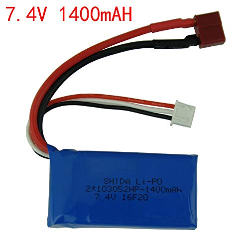 Leoie 7.4V Lipo Battery for SYMA X8G X8HC X8HG Huanqi 899 RC Quadcoper  7.4V 1400mAH Lithium Battery
