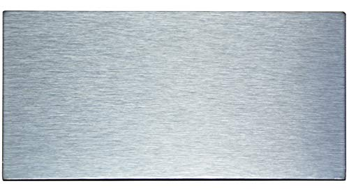 Crystiles Peel and Stick Brushed Stainless Metal Subway Tile, Self-Adhesive Aluminum Tile Backsplash, 6